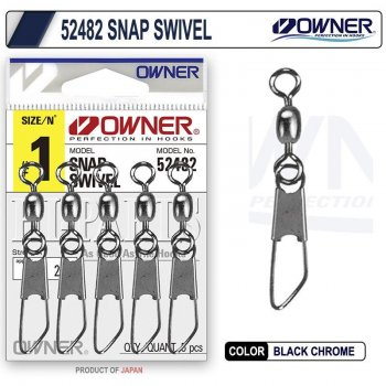 Owner 52482 Snap Swivel Klipsli Fırdöndü