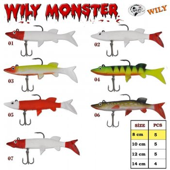 Wily Monster Turna Silikon 8 cm