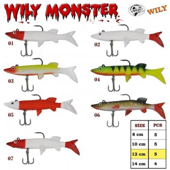 Wily Monster Turna Silikon 12 cm